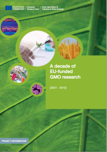 European Commission endorses GE crops as equally safe as conventional crops (need permission)
